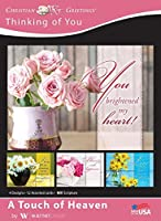 A Touch of Heaven - Encouragement Greeting Cards - NIV Scripture - (Box of 12) [並行輸入品]