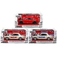 新しい1 / 24 W / B Jada金属 – JDM Tunersコレクション – 1971 Nissan Skyline Gt - r ( kpgc10 )のセット3点赤、ホワイト&ブルー) DiecastモデルCar by Jada Toys