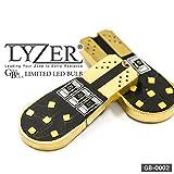 [LYZER] ホンダ ゼスト/スパーク JE1・2 ポジション/ライセンス ランプ LEDバルブ GBシリーズ T10/T16 両面発光 無極性12led 2個セット