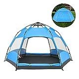 QZT テントワンタッチ 3~4人用 ドームテント折りたたみ 簡易テント 軽量 uvカット 紫外線 メッシュ 防水 キャンプ アウトドア レジャー バーベキュー 海