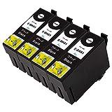 EPSON ICBK61×4【ブラック4本セット】ICチップ残量表示検知機能付き Mt.Smile製純正互換インクカートリッジ【365日保証】サービス