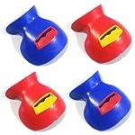 TOZAI 鼻笛 ノーズフルート Nose Flute / ボカリナ Bocarina ラバー 4色セット(レッド×2, ブルーx2)