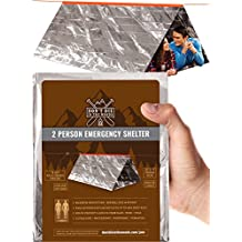 Emergency Survival Tent | The Best Survival Gear For Your Hiking Camping Backpacking Emergency Kit or Zombie Survival Kits | Use As Mylar Blanket Sleeping Bag or Tube Tent Emergency Shelter