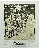 ポスター パブロ ピカソ Marconi 額装品 アルミ製ベーシックフレーム(ホワイト)