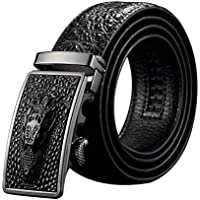 Black Friday Deals Cyber Monday Deals Week-Men Genuine Leather Belt Crocodile design Automatic Buckle