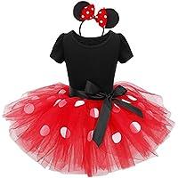 (フィーショー)FEESHOW ハロウィン コスプレ 子供 ワンピース リボン トッド柄 ドレス 子どもドレス 女 可愛い キッズ スカート 子供服 女の子用 カチューシャ付き 2点セット レッド 8