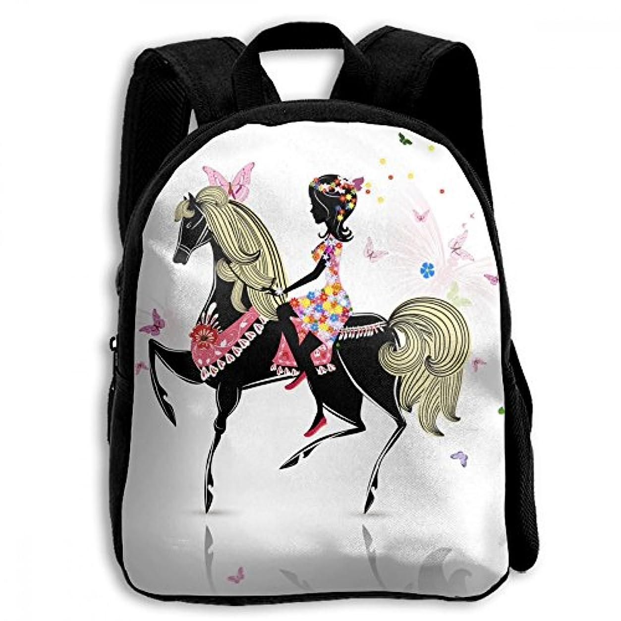 原告読書をするコンバーチブルキッズ リュックサック バックパック キッズバッグ 子供用のバッグ キッズリュック 学生 馬柄 動物 馬 女の子 アウトドア 通学 ハイキング 遠足