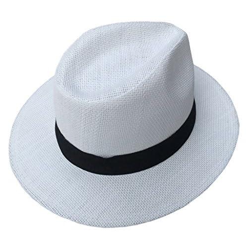 (ビグッド)Bigood 中折れハットレディース つば広ハット つば広帽子 ストローハット 麦わら帽子 日よけ UVカット ハット メンズ 帽子 春夏 リゾート 白