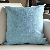 TJTJ ファッション枕リネンクッションソファクッションオフィスベッドサイド車の布ウエスト枕 (Color : 2, サイズ : 55*55cm)