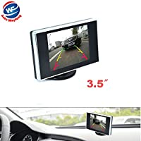 """Auto Wayfeng WF? 3.5 """"インチポータブルカラーLCD TFT車のバックビューバックアップモニター、車のカメラと車のDVDプレーヤー"""