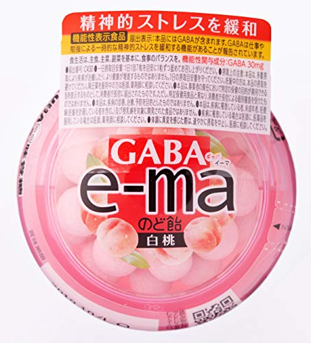 味覚糖 食品e-maのど飴容器 GABA 白桃 33g×6個 [機能性表示食品]