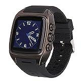 STK スマートウォッチ smart watch Android4.4.2,microSIM 搭載 3Gウォッチフォン WI-FI GPS HDカメラ テザリング 日本語対応 (ブラック)