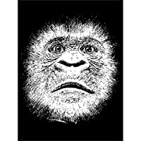Gorilla Monkey Ape Face Canvas Wall Art Print モンキー面壁