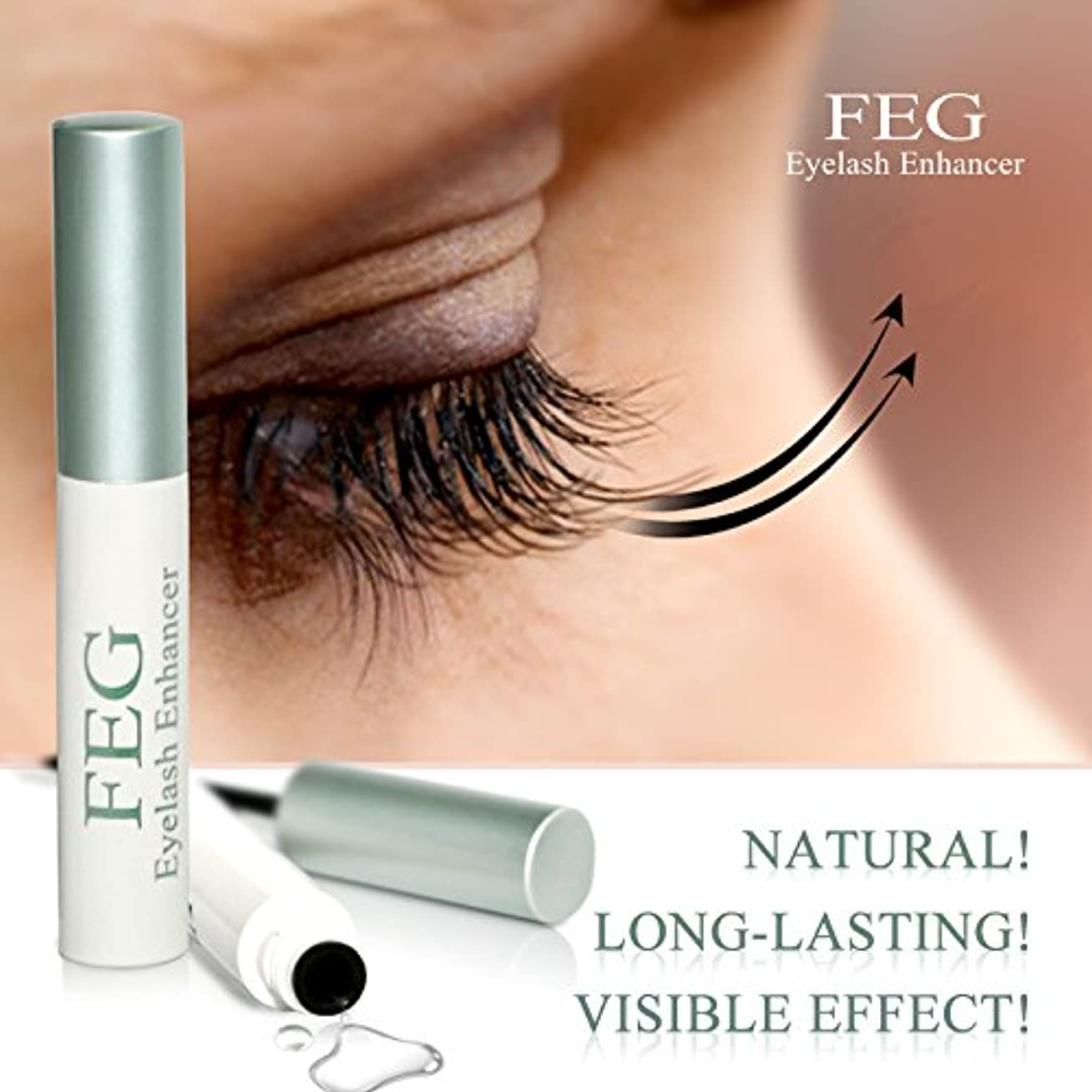 枯渇助言するかけがえのないFEG Eyelash enhancer. The most powerful eyelash growth Serum 100% Natural. Promote rapid growth of eyelashes by...