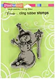 Stampendous クリスマスしがみつくスタンプ魔法雪だるま