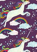 ポスター ウォールステッカー シール式ステッカー 飾り 203×254㎜ 六つ切り 写真 フォト 壁 インテリア おしゃれ  剥がせる wall sticker poster p2lwsxxxxx-011270-ds ペガサス 虹 紫