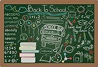 Yeele 10x8フィート ビニール 新学期用背景幕 写真用 黒板 黒板 チョーク描画 背景 学校 バス 学生 学習 小学校 開会式 先生 子供 写真ブース 撮影小道具