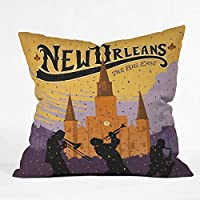 Deny Designs Anderson Design Group New Orleans 1 Throw Pillow 18 x 18 [並行輸入品]