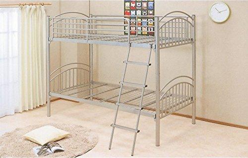パイプ2段ベッド 2段ベット 二段ベッド パイプベッド スチール シングル2段ベッド ビット