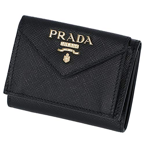 ea959234ff63 PRADA(プラダ) 三つ折り財布 ミニ財布 レディース サフィアーノ 三つ折り財布 1MH021 QWA