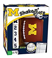 MasterPieces NCAA Michigan Wolverines Shake 'n Score Dice Game