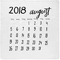 Organic Cotton Muslin Swaddle Blanket – 8月2018 47x47in