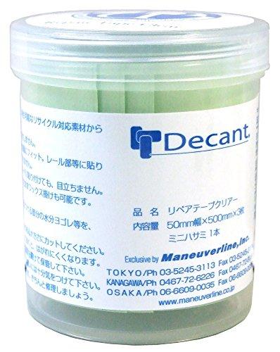 DECANT(デキャント) リペアテープ S 5cm × 50cm サーフボード補修用 3枚入り クリアー
