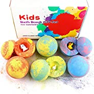 Bath Bombs for Kids with Toys Inside for Girls Boys - 6 Surprise Gift Set, Bubble Bath Fizzies Vegan Essential