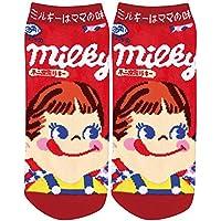 お菓子パッケージソックス[女性用靴下]レディースソックス/ミルキー ペコちゃん