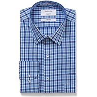 Van Heusen Men's Classic-Relaxed Fit Large Check Business Shirt