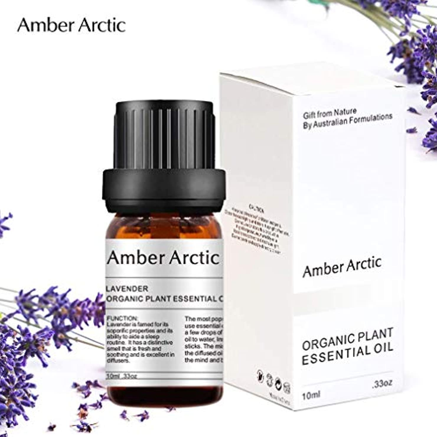 活気づく早める不明瞭Amber Arctic ラベンダー エッセンシャル オイル - 100% 純粋 最良 治療 グレード エッセンシャル オイル、 ディフューザー 用 天然 アロマ オイル (10ミリリットル)