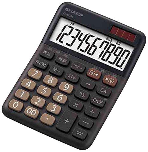 シャープ カラー電卓 ミニナイスサイズ ブラウン系 EL-M334-TX