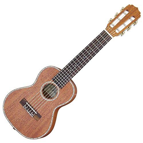 Aria アリア 6弦テナーウクレレ トラベルギター 432mmスケール ワイドナット ナット幅47mm Body オールマホガニー
