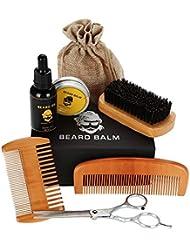 ビアードセット 男性グルーミングケア 8件セット 保湿 滋養 ひげ根のケアなどの効果 収納袋付き 携帯便利