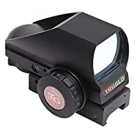TRUGLO Tru-Brite Open Red-Dot Dual-Color Multi Reticle Black [並行輸入品]