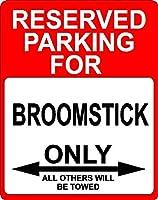 """Broomstick Transportation飾り予約駐車場のみサイン9"""" x12""""プラスチック。"""
