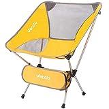 VECELO (べセロ) アウトドアチェア 折りたたみ 超軽量 組み立て式チェア キャンプ椅子 アルミ合金&オックスフォード 収納バッグ付き コンパクト 耐荷重120kg(イエロー)