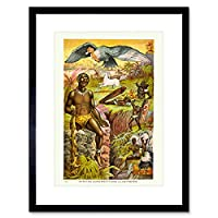 Paintings Cultural Africa Superstition Native Framed Wall Art Print 絵画文化アフリカスーパーネイティブ壁