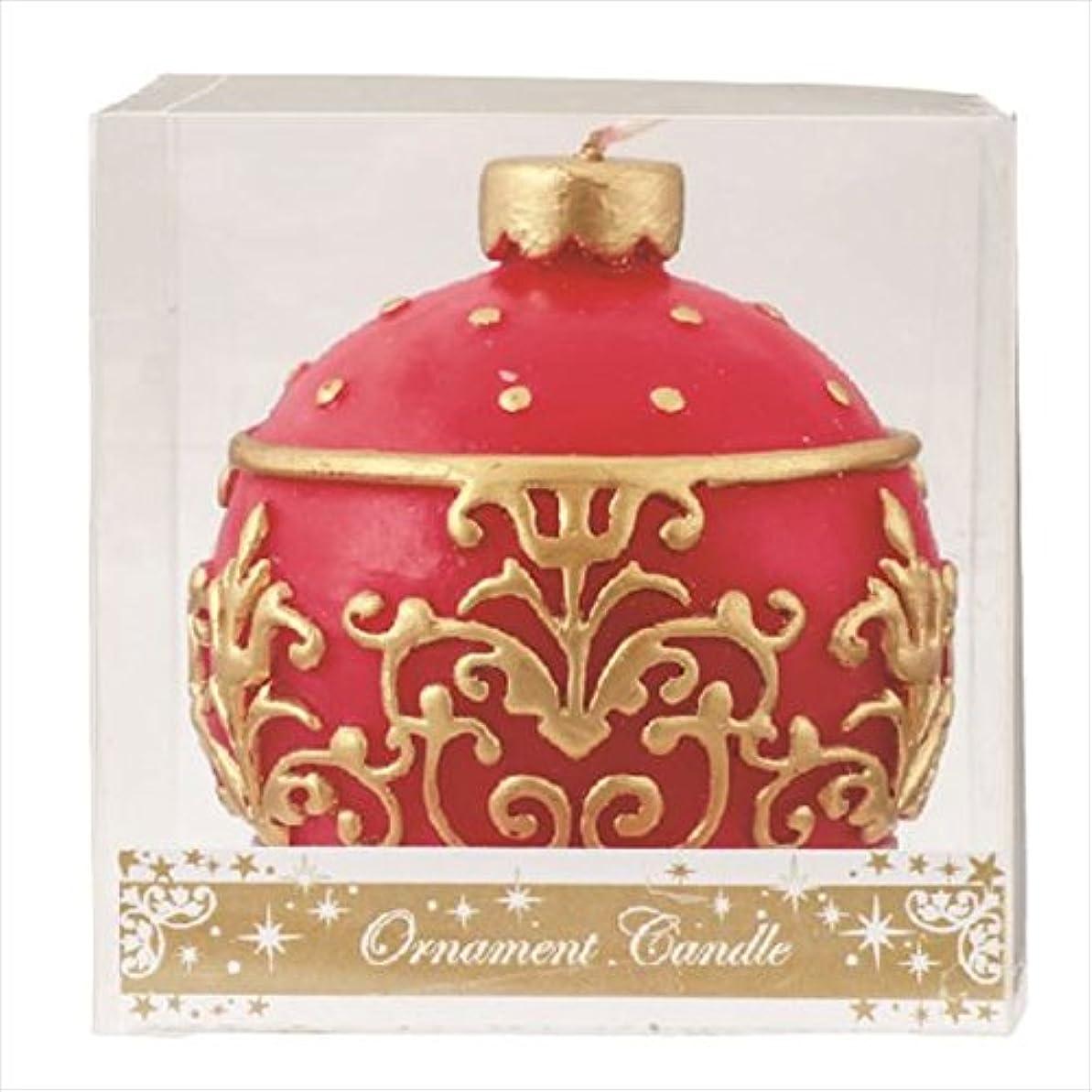 強度文法ながらカメヤマキャンドル(kameyama candle) オーナメントキャンドル 「 レッド 」