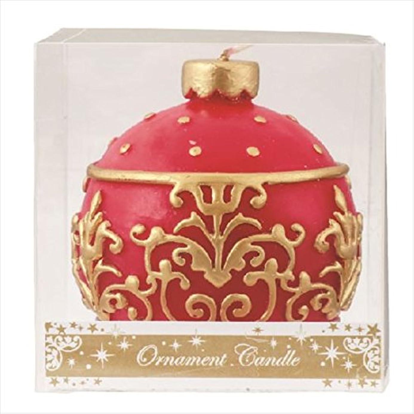 食器棚タバコお手伝いさんカメヤマキャンドル(kameyama candle) オーナメントキャンドル 「 レッド 」