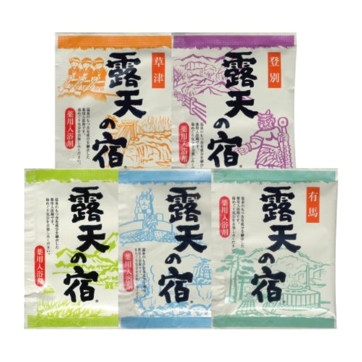 豆腐原理戦艦薬用入浴剤 露天の宿 5種アソート100包