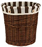 大橋新治商店 北欧風 ゴミ箱 ポルト Willow Basket ダストボックス ブラウン 21-657