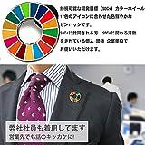正規品 SDGs バッジ(1個) ピンバッチ バッヂ 高級 SDGs ピンバッジ 珐琅彩 最新仕様 国連本部限定販売 ピンバッジの留め具 銀色2個 人気 おしゃれ ギフト 画像