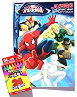 Marvel Ultimate Spider-Man Jumbo Colouring and Activity Book with Cra-Z-Art Crayons