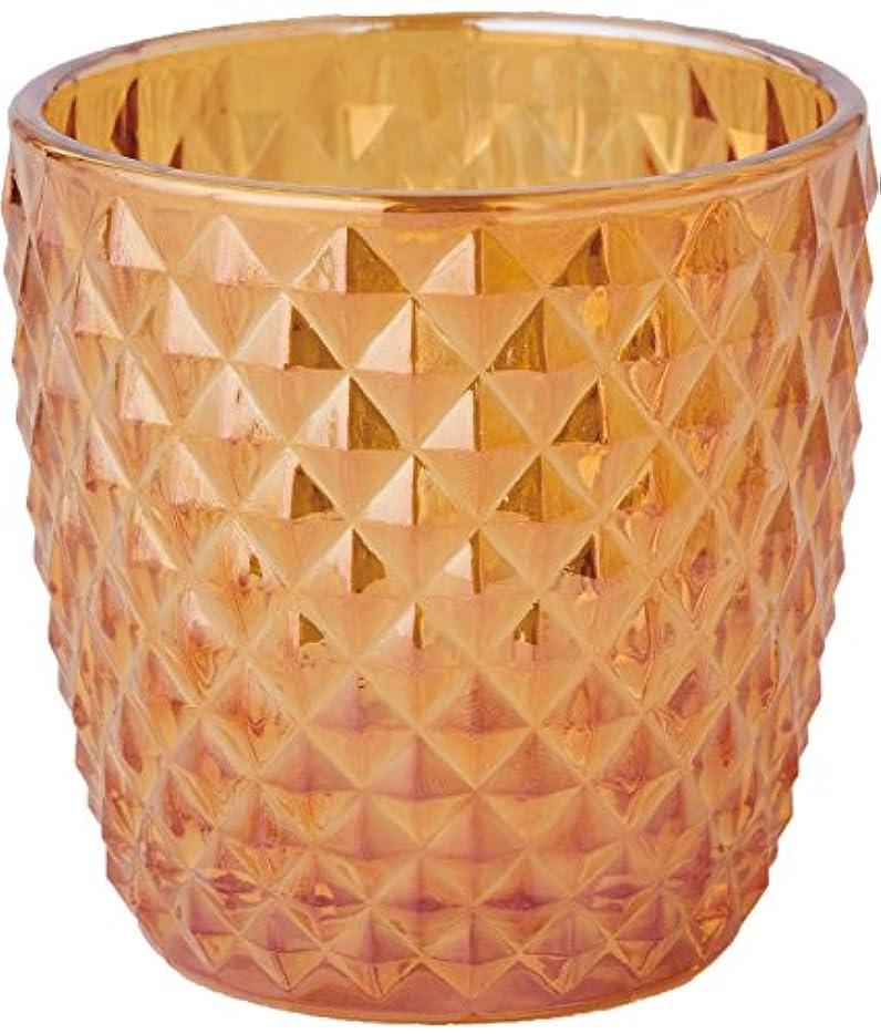 浪費照らす上級カメヤマキャンドルハウス オーロラスタッズグラス キャンドルフォルダー ゴールド