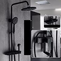 wAWzjバスルームシャワーセットブラックブースターシャワーシャワーSuit European Dumbブラック4アンティークシャワーシャワーすべて銅洗面Can Be LiftedまたはLowered。 9043206016124