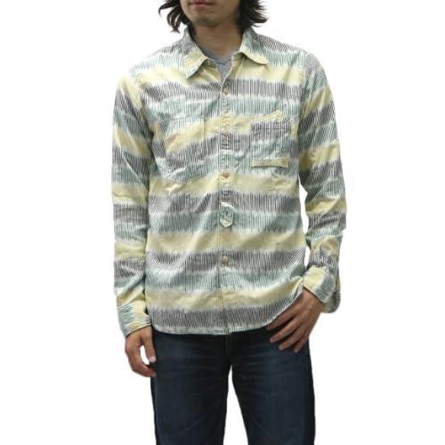 (スペルバウンド)SPELLBOUND 絣織りBDシャツ (2(M), 54・イエロー) [ウェア&シューズ]