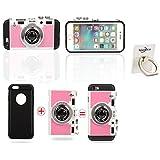 携帯電話ケース,iPhone 5 5s 超薄型耐衝撃 防水ケース 防塵耐衝撃ケース 防水ジャケットカメラ (iPhone 5/5s, ピンク)