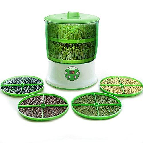 もやし栽培機 BelleLife もやし栽培マシン もやし栽培キット 水耕栽培器 もやし育成マシン 自宅もやし栽培 もやし家庭菜園 スプラウト栽培 水耕栽培キット もやしマシン もやし栽培 2層大容量 2018年改良版