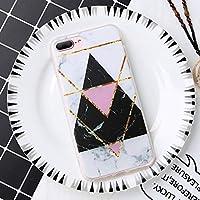Dagly - 2019 iPhone 6 6S 7 8プラス5 5S SE Capinhas FundasのためにiPhone X XS最大のXRラグジュアリー幾何学的マーブル場合のソフトシリコンケース [4 iPhone 7 8用]